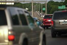 Morning rush hour traffic returns with reopening to I-95 southbound in Fairfield, Conn. on Wednesday, June 10, 2020.