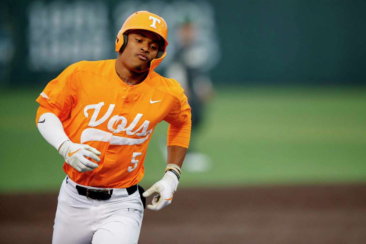 Zach Daniels, drafted by the Astros in the fourth round Thursday, hit .357 batting average with a 1.228 OPS in 56 at-bats this year as Tennessee's season was truncated by COVID-19.