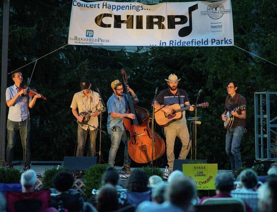Town Mountain, a bluegrass band, played a CHIRP concert in Ballard Park on Thursday, Aug. 15, 2019 in Ridgefield. Photo: Bryan Haeffele / Hearst Connecticut Media / Hearst Connecticut Media