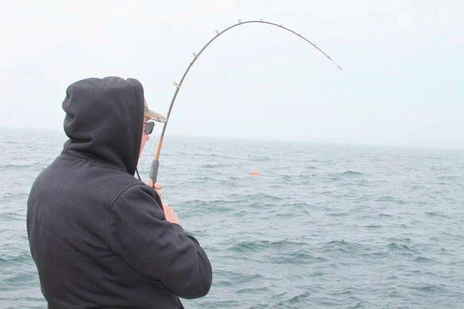 Trout and salmon are biting in Lake Michigan. (News Advocate file photo)