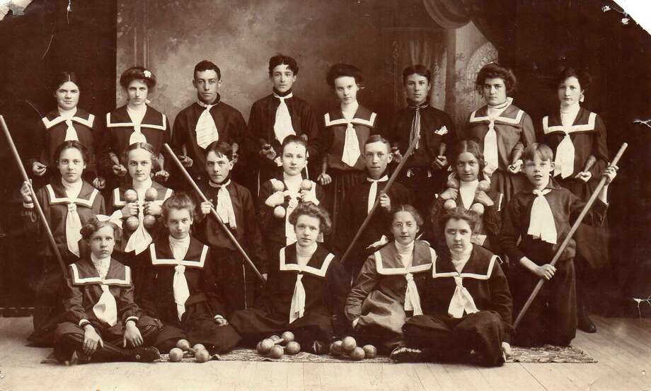 Pictured here is the Frankfort boys and girls drill team of 1905.