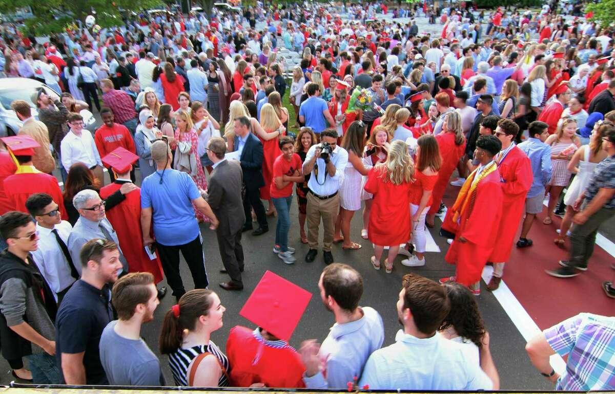 Branford High School graduation in 2019