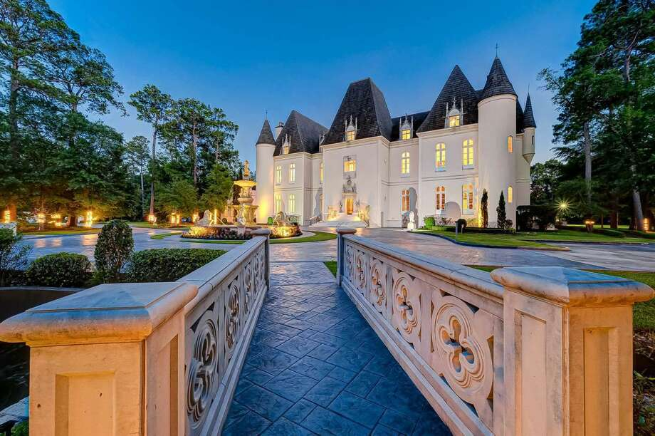 This 37,000-square-foot estate in Champions was originally built as a single-family residence. A subsequent owner turned it into an event venue called Chateau Cocomar. Photo: Good Karrot