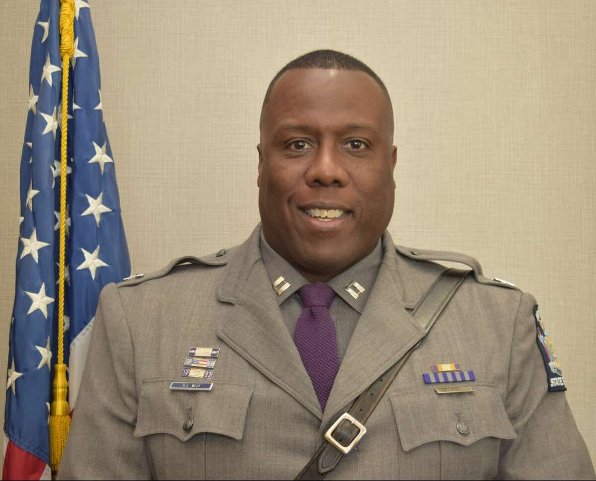 S. Christopher West, the new commander of State Police Troop G, headquartered in Latham.