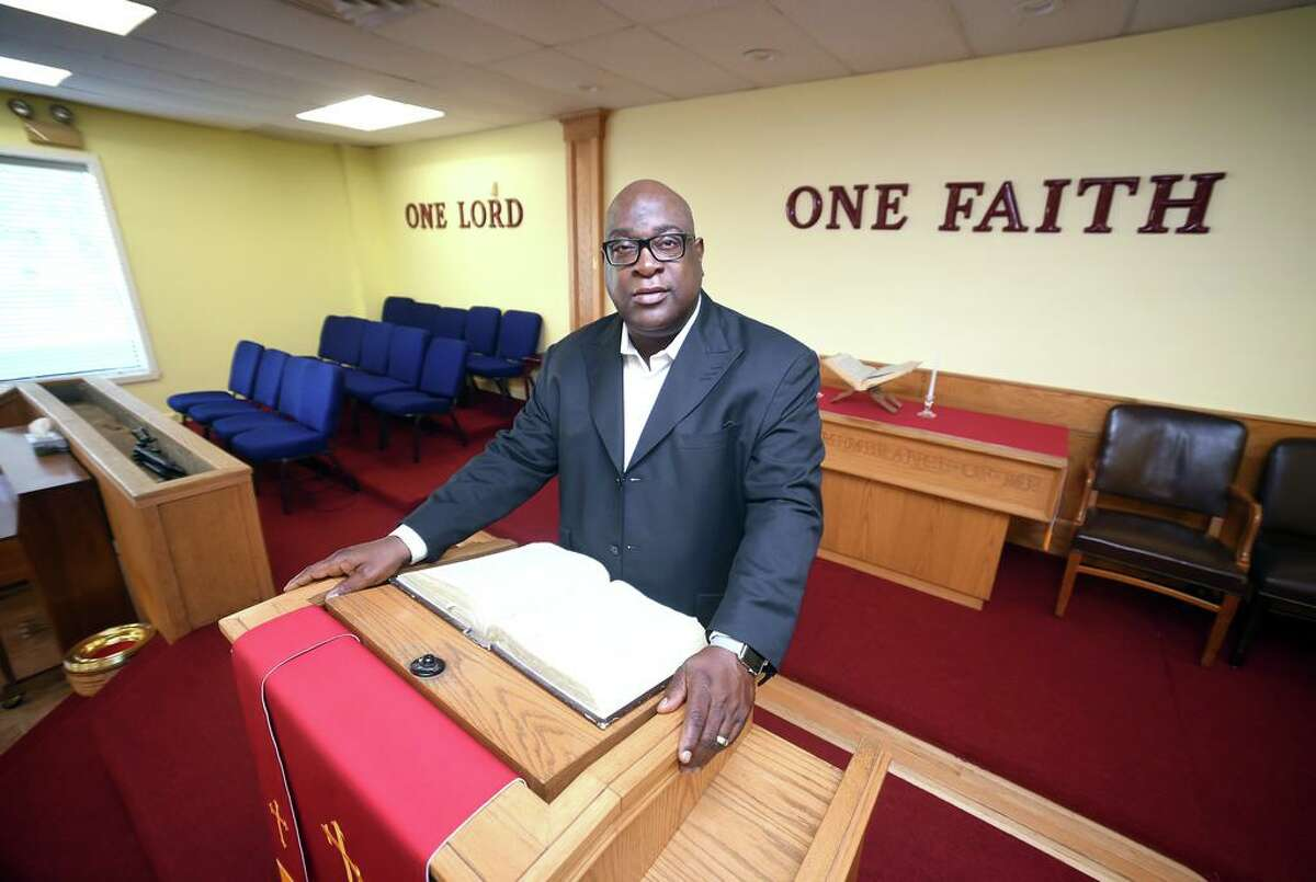 In this file photo, Rev. Boise Kimber, pastor of the First Calvary Baptist Church in New Haven.