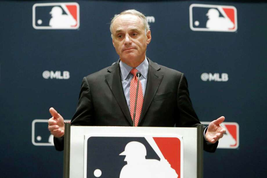 MLB commissioner Rob Manfred is becoming the face of baseball's failure to reach a deal to return to play. Photo: LM Otero, STF / Associated Press / Copyright 2019 The Associated Press. All rights reserved.