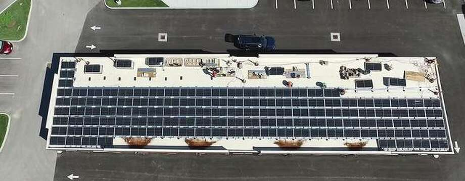 Rooftop view of Trace on the Parkway's newly installed solar array system. Photo: Courtesy Of Kunkel Wittenauer Group