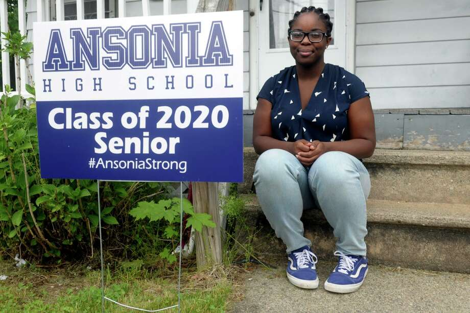 Maliqa Mosley-Williams poses in front of her home in Ansonia, Conn. June 11, 2020. She is about to graduated from Ansonia High School. Photo: Ned Gerard / Hearst Connecticut Media / Connecticut Post