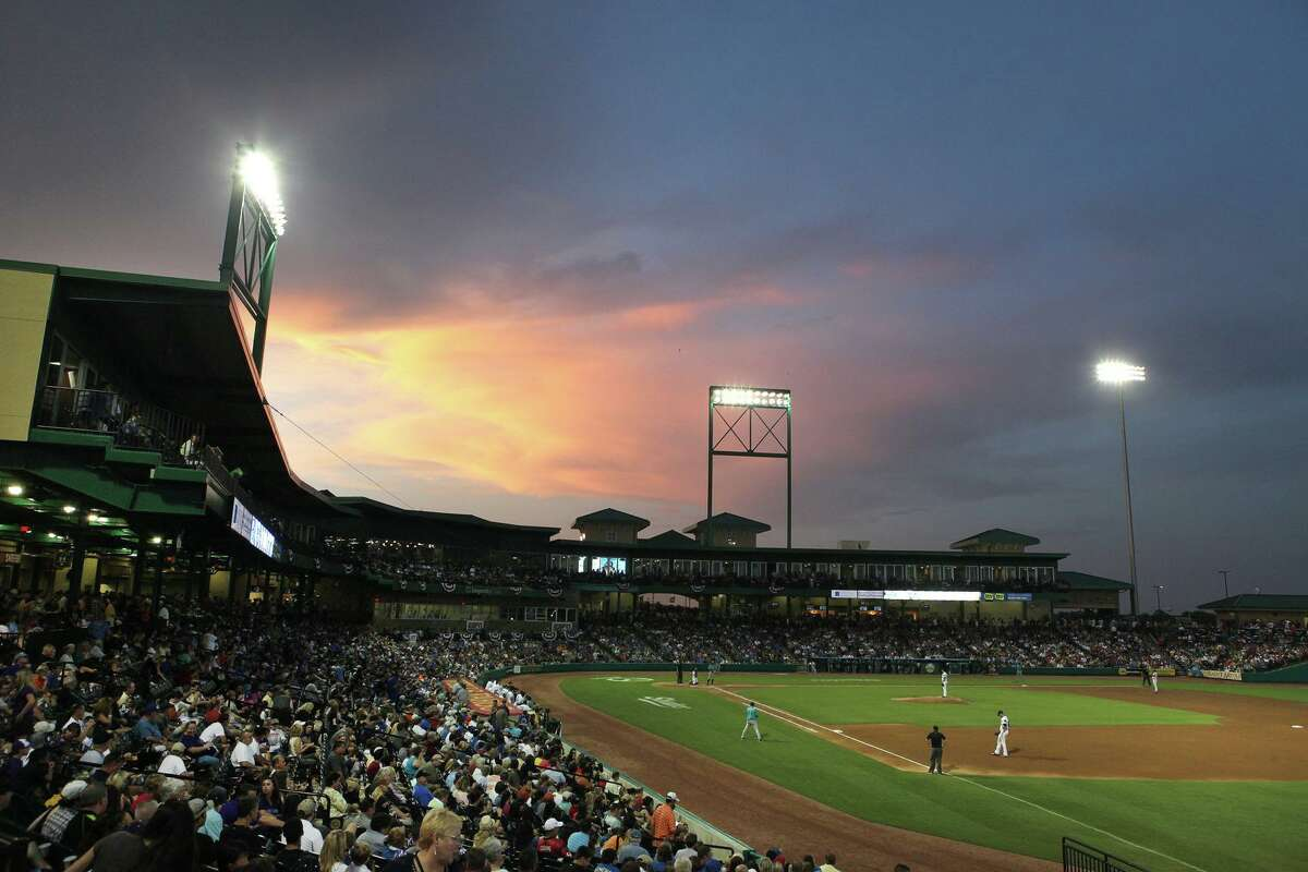 A sellout crowd watched Roger Clemens pitch in August 2012 for the Sugar Land Skeeters against the Bridgeport Bluefish at Constellation Field in Sugar Land.