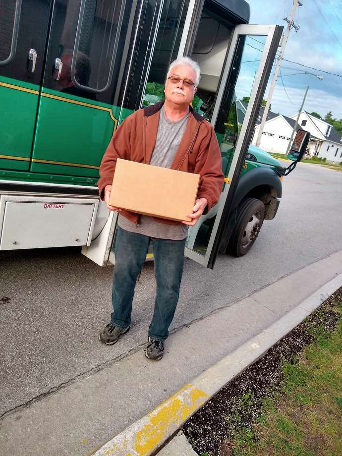 The Manistee County Council on Aging is working to combat food insecurity. This week nearly 100 emergency food boxes were distributed with the help of Dial a Ride. (Courtesy Photo)
