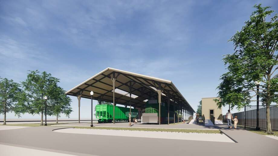 Renderings for the planned Tomball Railroading Heritage Museum. Photo: Courtesy Of Harry Gendel Architects