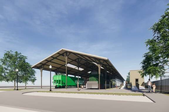 Renderings for the planned Tomball Railroading Heritage Museum.