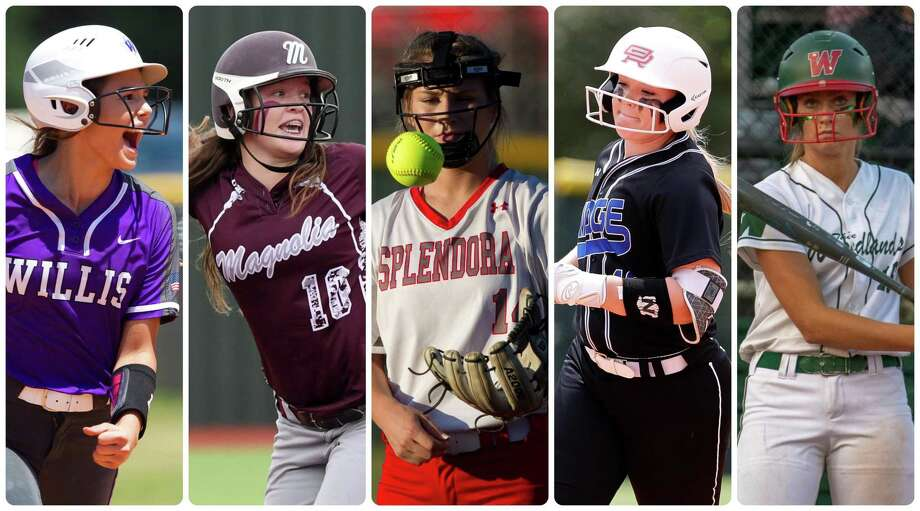 Ashley Vallejo (Willis), Baylee Lemons (Magnolia), Caleigh Millican (Splendora), Kennedy Reynolds (Oak Ridge) and Skylar Sirdashney (The Woodlands) are members of The Courier's All-Senior team. Photo: Staff Photos