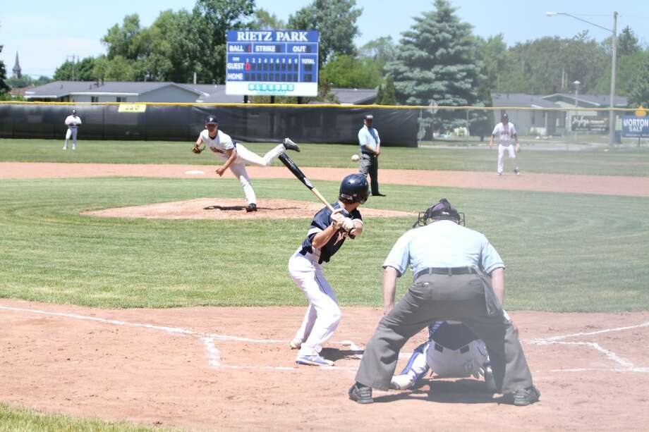The Manistee Saints hosted a Meet the Team Day and scrimmage Saturday at Rietz Park after the team's weekend series against the Oil City Stags was canceled due to unforeseen circumstances. Photo: Kyle Kotecki/News Advocate