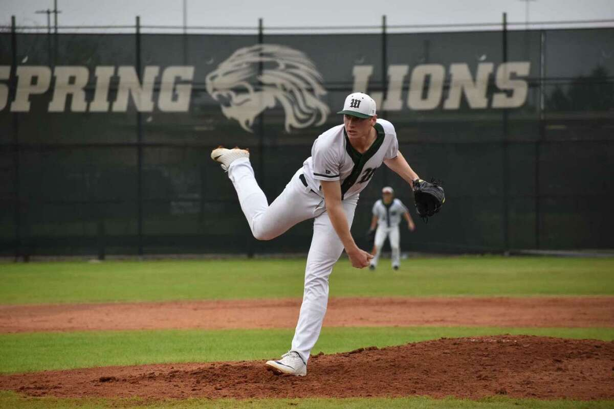 Josh Ekness throws a pitch for The Woodlands. He'll become a Lamar Cardinal next season after barely missing out on the MLB draft.