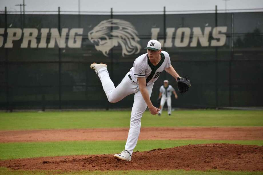 Josh Ekness throws a pitch for The Woodlands. He'll become a Lamar Cardinal next season after barely missing out on the MLB draft. Photo: Photo Provided By Josh Ekness.