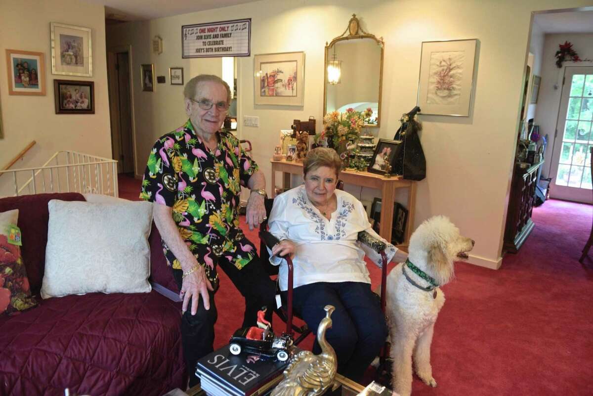 """Joseph and Elaine Lyons fell victim to what is known as the """"grandparent scam,"""" where callers pretend to be a relative in need of help and money. Thursday, June 11, 2020, in Danbury, Conn."""