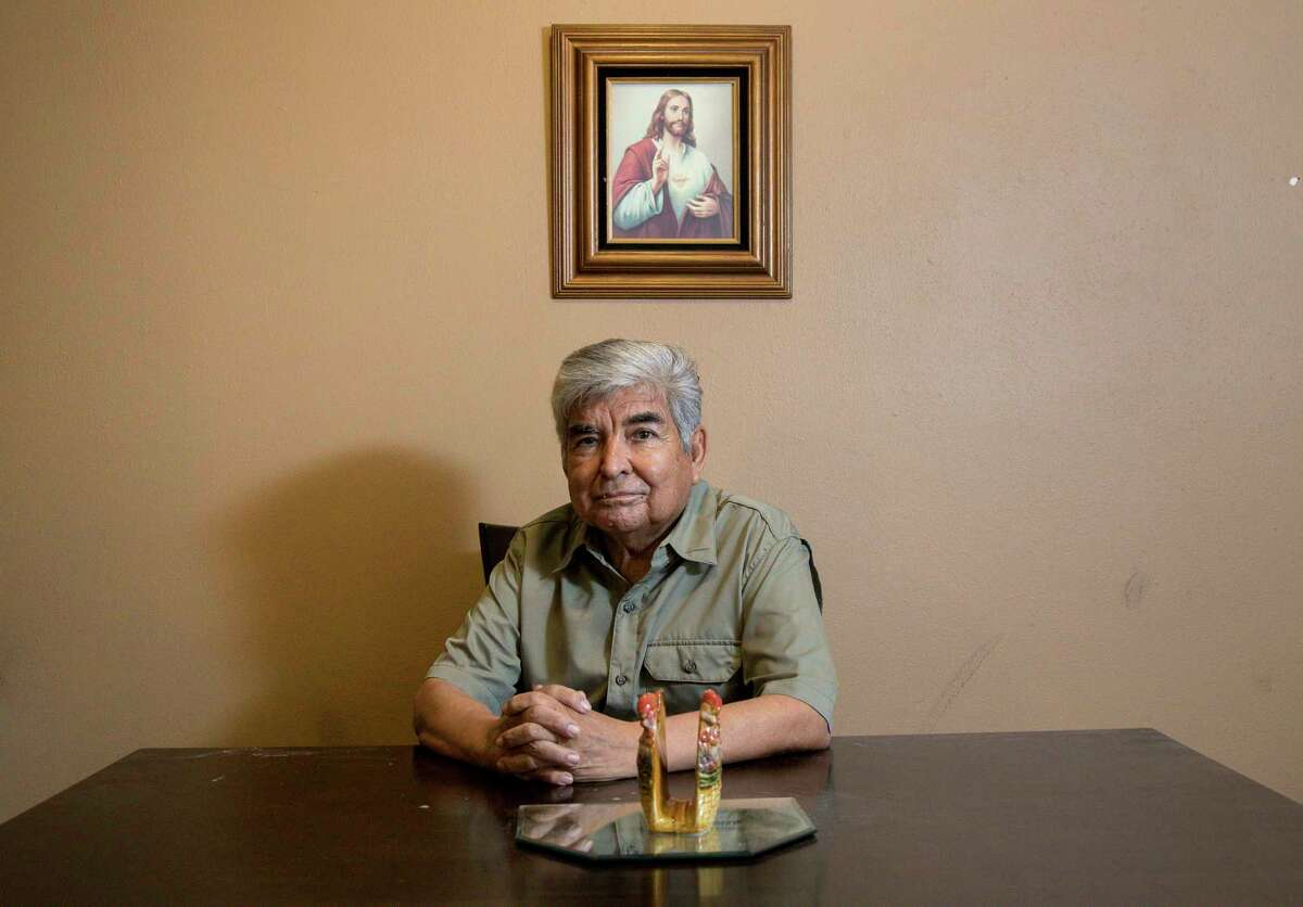 Johnny Mata, a community activist for over 40 years with the League of United Latin American Citizens, worked to build relationships between Houstonians and law enforcement agencies. He poses for a portrait at his home Thursday, July 5, 2018, in Houston.