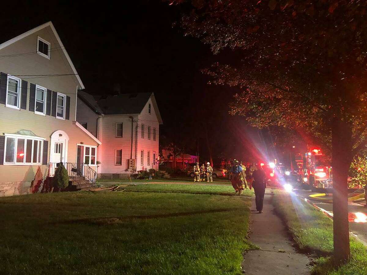 Units operated on scene for a basement fire on Elizabeth Street in Bethel, Conn., on Saturday, June 13, 2020, for several hours.