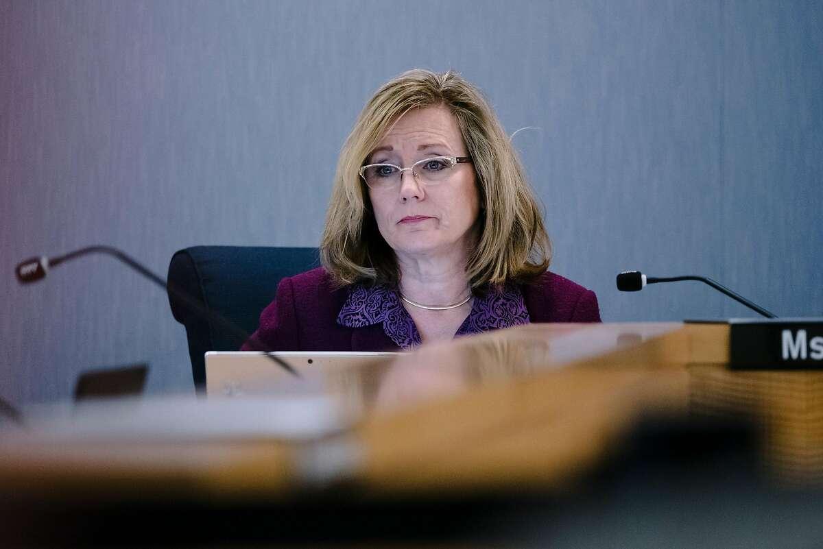 BART district 1 director Debora Allen listens during a BART meeting in Oakland, California, Monday, November 21, 2019.