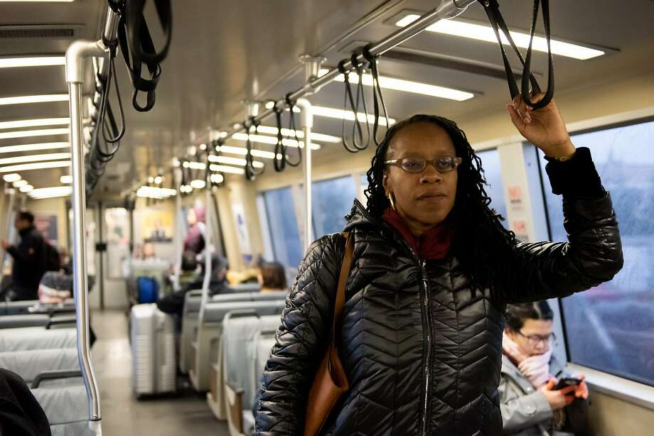 "BART Board President Lateefah Simon, shown riding a train in January, said her fellow board member's comments are ""consistent with the political agenda that uplifts structural racism."" Photo: Kate Munsch / Special To The Chronicle"