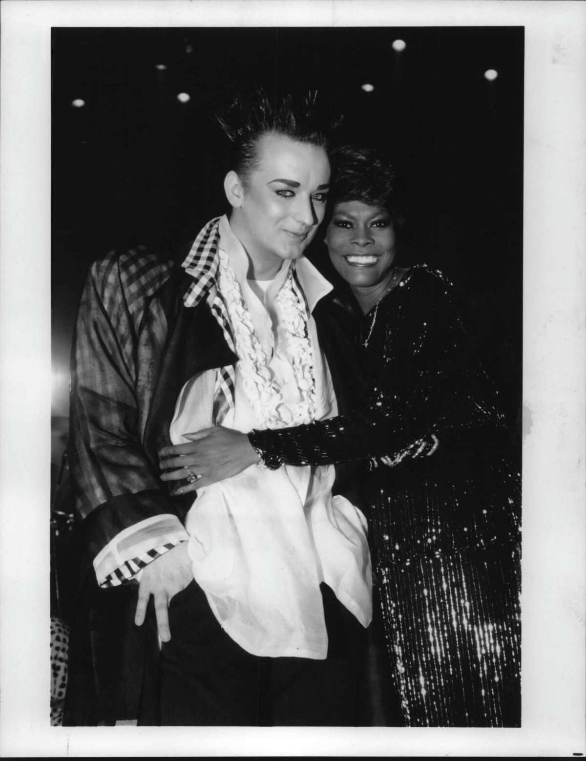 Culture Club's ever-unpredictable Boy George meets Dionne Warwick, new host of Paramount Domestic Television and Video Programming's