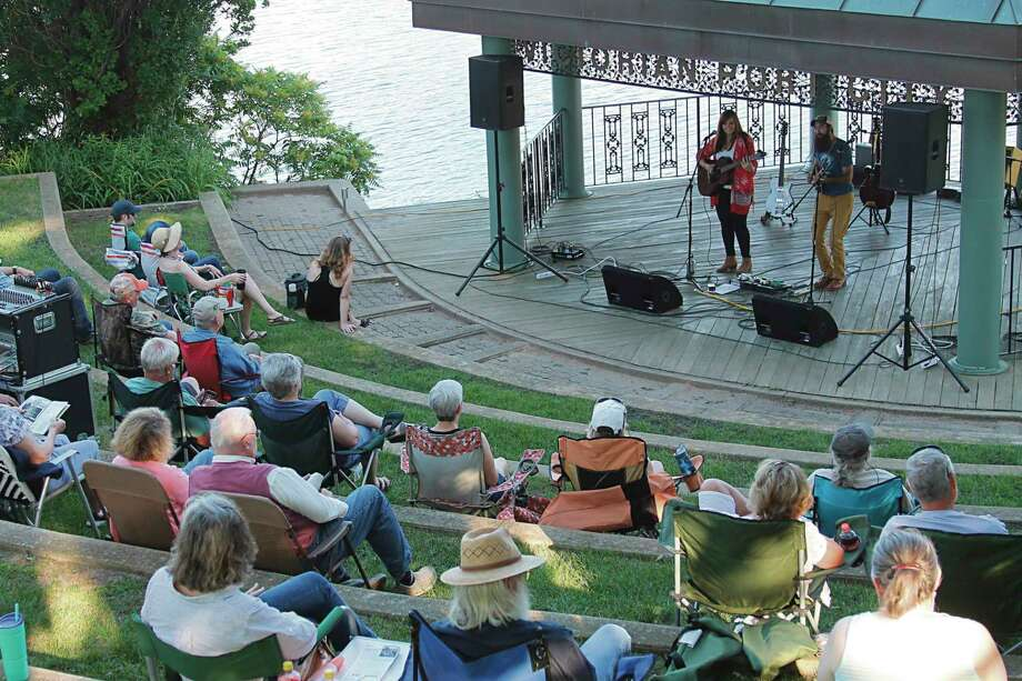 The Manistee Jaycees kicked off the 2018 Roots on the River summer concert seriesin July with a performance from Escaping Pavement. The Manistee Jaycees' Roots on the River concert series faces an uncertain future this summer due to the coronavirus pandemic. The group has not made a decision on the season yet.(File photo)