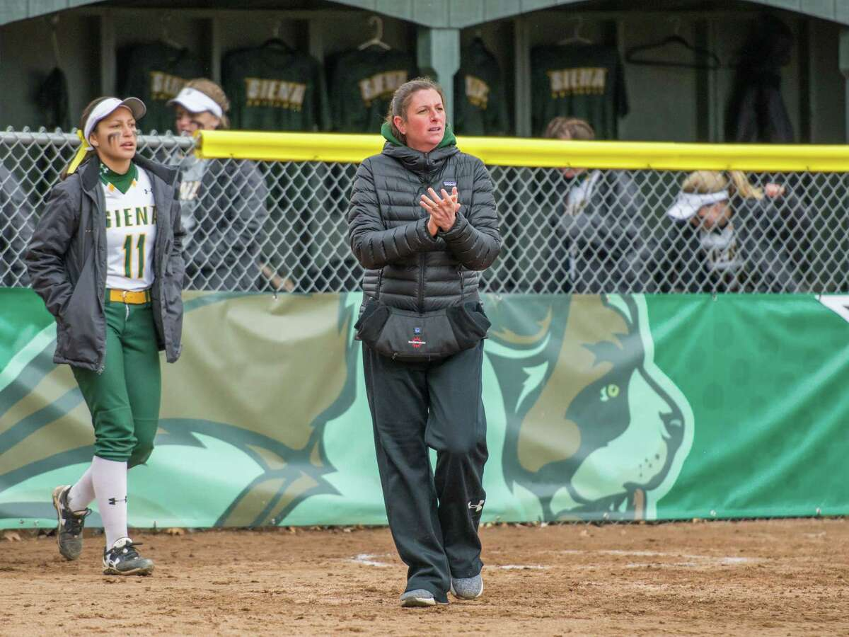 Siena softball coach Casey Bump was elevated to the top spot after serving as the Saints' pitching coach for seven years. (Courtesy of Siena Athletics)