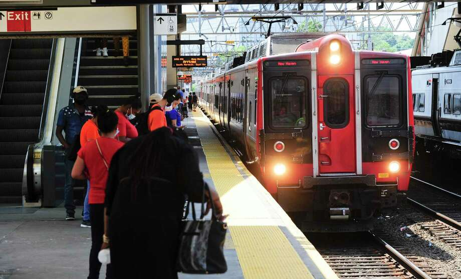 On Monday, Aug. 10, 2020, Metro-North resumed regular weekday service between New Haven and Grand Central Terminal. Service was suspended after damage from Tropical Storm Isaias last week. Photo: Matthew Brown / Hearst Connecticut Media / Stamford Advocate