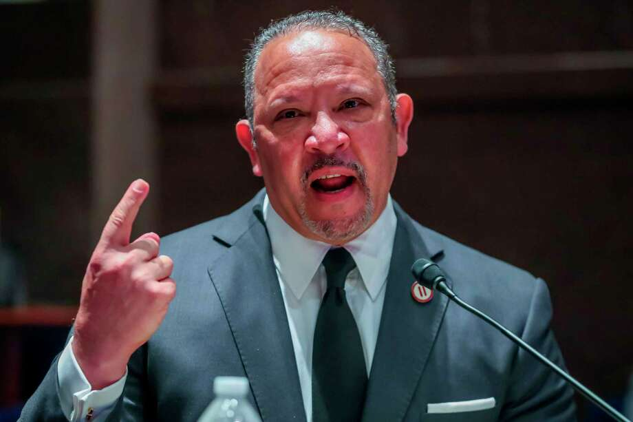 President and CEO of the National Urban League Marc Morial speaks during the House Judiciary Committee hearing on policing practices and law enforcement accountability on Capitol Hill on June 10, 2020 in Washington, D.C. Stamford-based Charter Communications has announced a $3 million investment in the National Urban League's community development financial institution. Photo: MICHAEL REYNOLDS / POOL /AFP Via Getty Images / AFP