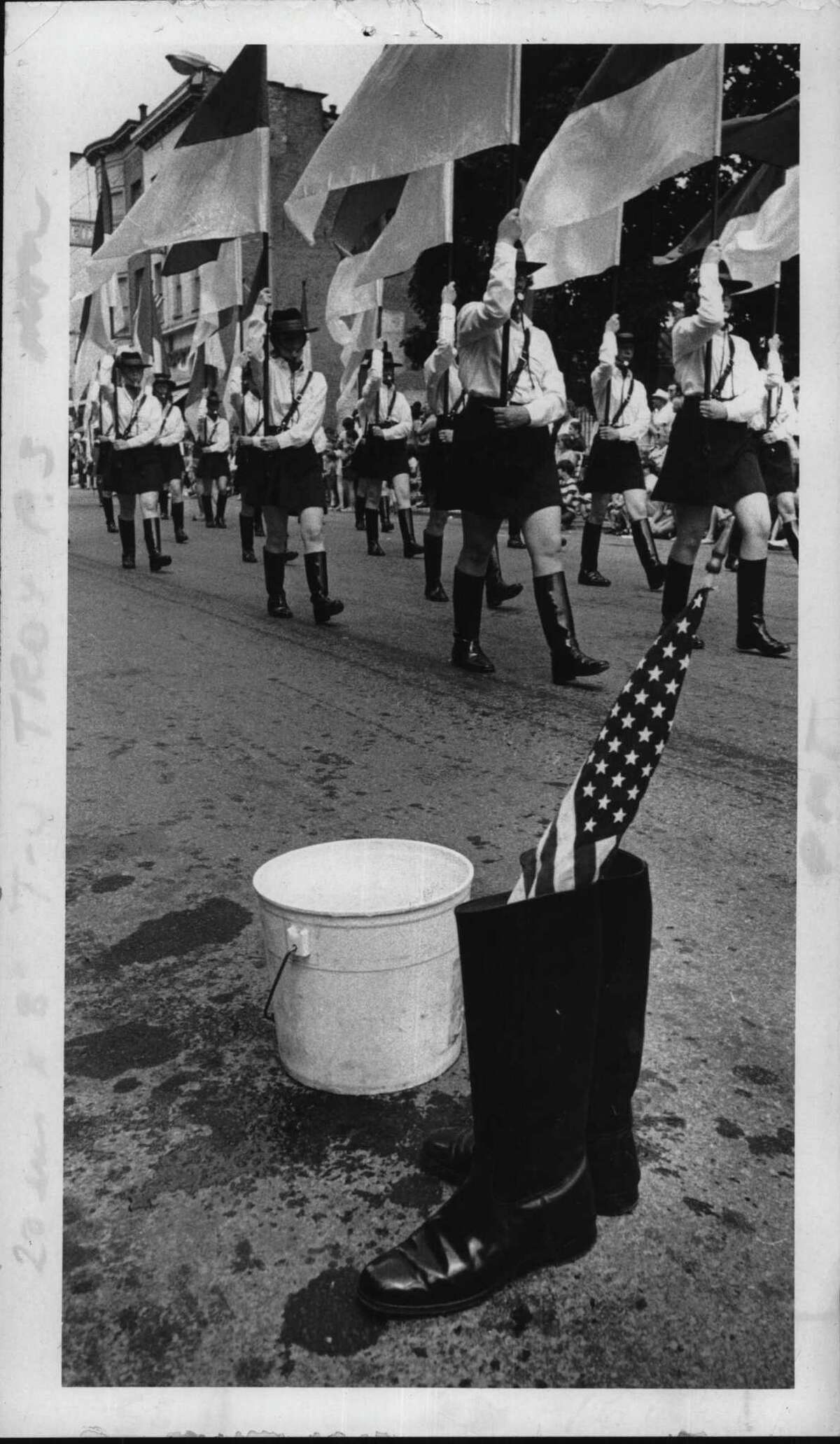Flag Day parade in Troy, New York. June 10, 1974 (Fred McKinney/Times Union Archive)