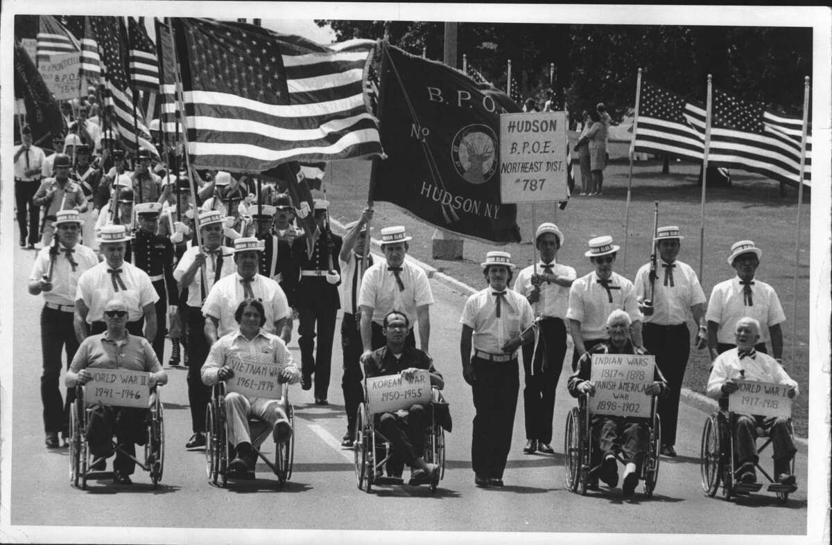 New York - Flag Day parade - veterans of different wars. June 15, 1975 (Bob Richey/Times Union Archive)