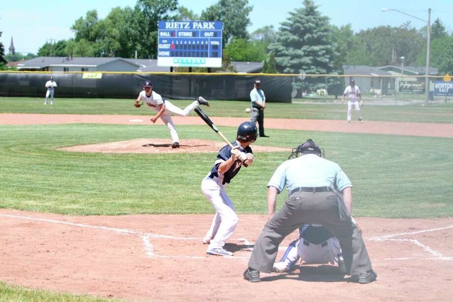 The Manistee Saints hosted a Meet the Team Day and scrimmage Saturday at Rietz Park after the team's weekend series against the Oil City Stags was canceled due to unforeseen circumstances. (Kyle Kotecki/News Advocate)