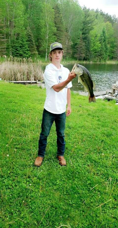 Evart baseball player Brayden Cass is also an avid fisherman. (Courtesy photo)