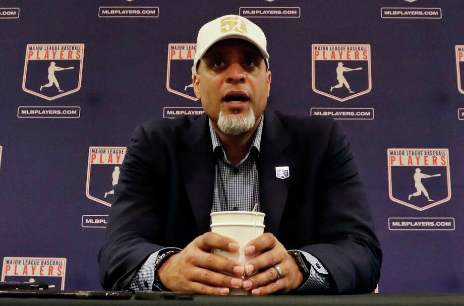 In this Feb. 19, 2017, file photo, Tony Clark, executive director of the Major League Players Association, answers questions at a news conference in Phoenix. Major League Baseball rejected the players' offer for a 114-game regular season in the pandemic-delayed season with no additional salary cuts and told the union it did not plan to make a counterproposal, a person familiar with the negotiations told The Associated Press. The person spoke on condition of anonymity Wednesday, June 3, 2020, because no statements were authorized. (AP Photo/Morry Gash, File) / Copyright 2017 The Associated Press. All rights reserved.
