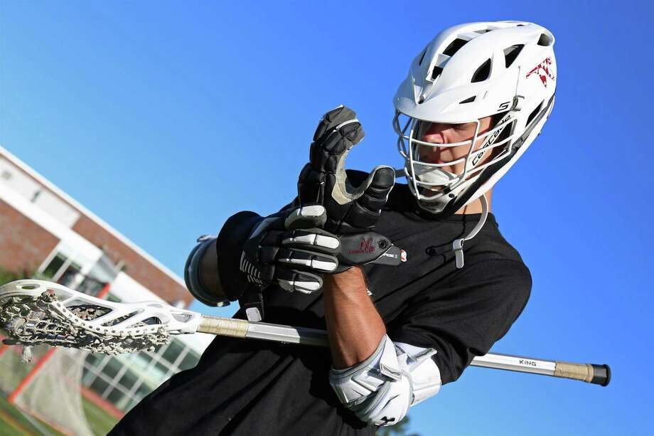 Austin Russell of Fairfield suits up to play at Ludlowe High School field on Sunday, June 14, 2020, in Fairfield, Conn. Photo: Jarret Liotta / Jarret Liotta / ©Jarret Liotta 2020