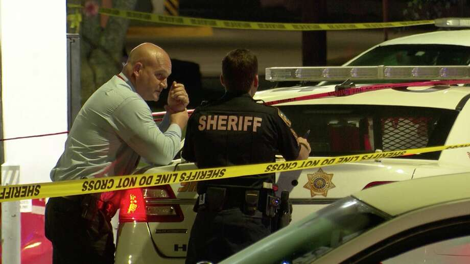 Harris County sheriff's deputies investigate a deadly shooting on West Road near Easton Commons on Sunday, June 14, 2020. Photo: OnScene.TV