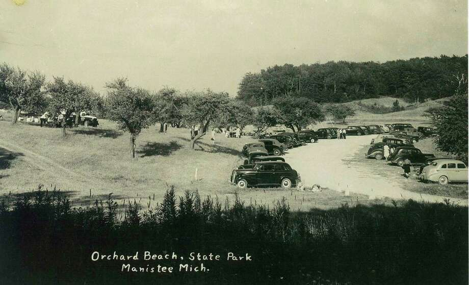 A partial view of just some of the improvements (parking lots, trails, etc.) that were eventually completed by the CCC workers stationed inside of the park in 1939-1940. The photo was taken circa 1940s.