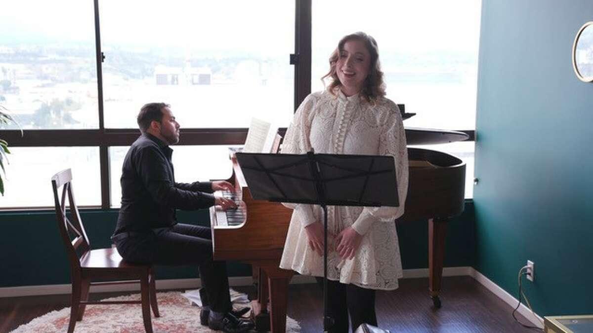 Conductor and pianist Louis Lohraseb and soprano Erica Petrocelli