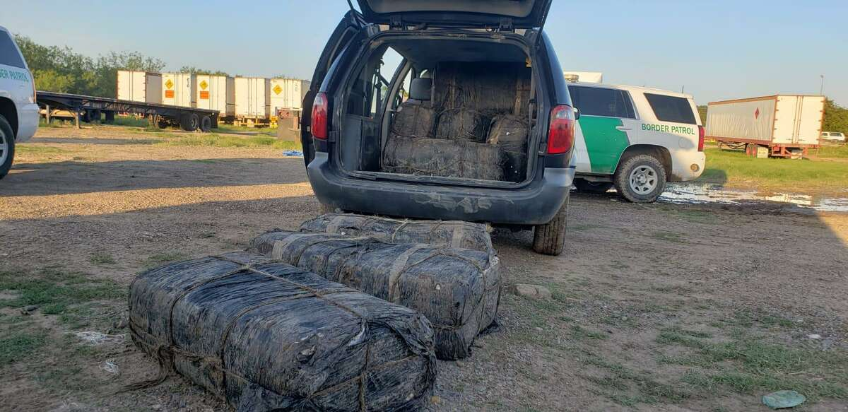 U.S. Border Patrol agents said they recovered these bundles of marijuana after the suspected smugglers abandoned the narcotics. The marijuana weighed 739.65 pounds and had an estimated street value of $591,720.