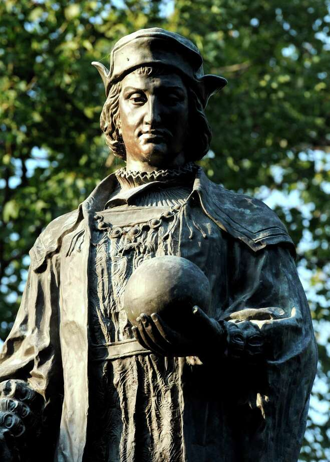 To Italian-Americans, the Christopher Columbus statue in New Haven's Wooster Square is a symbol of their heritage and its location is the culmination of annual Columbus Day festivities. But to many others it symbolizes white oppression of minorities and native Americans. After the death of George Floyd last month at the hands of Minneapolis police, similar statues have been targeted by supporters of Black Lives Matter. Photo: File Photo