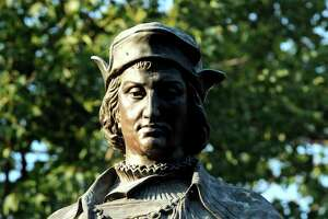 To Italian-Americans, the Christopher Columbus statue in New Haven's Wooster Square is a symbol of their heritage and its location is the culmination of annual Columbus Day festivities. But to many others it symbolizes white oppression of minorities and native Americans. After the death of George Floyd last month at the hands of Minneapolis police, similar statues have been targeted by supporters of Black Lives Matter.