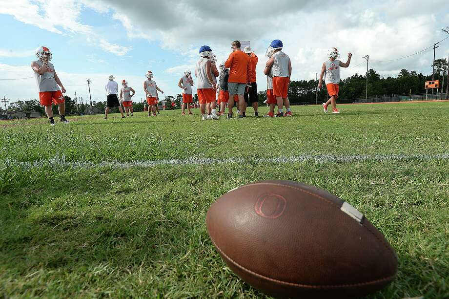 Orangefield gets down to preparations for the upcoming football season on the opening day of practice.  Monday, August 6, 2018  Kim Brent/The Enterprise Photo: Kim Brent / The Enterprise / BEN