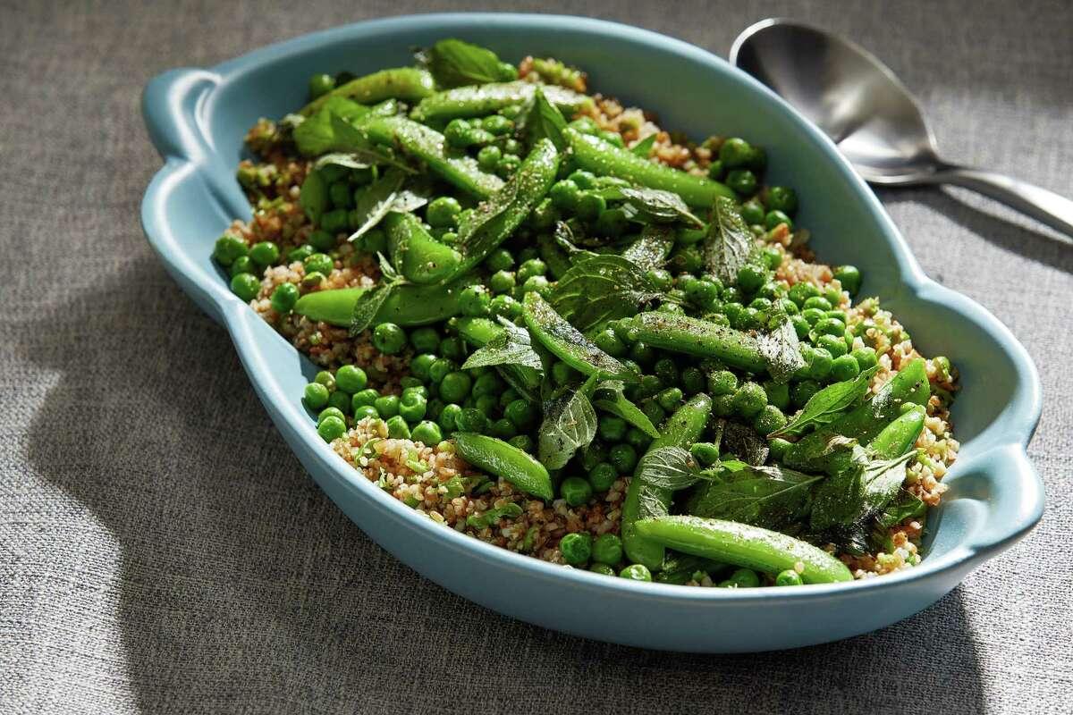 Bulgur Pilaf With Spring Peas.