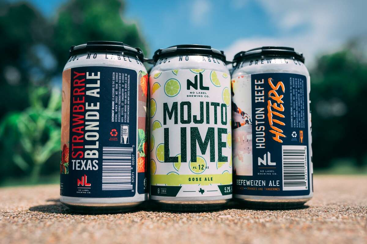 No Label Brewing has three summer beers available: Texas Strawberry Blonde Ale, which, as the name implies, is a blonde ale with fresh strawberry; Mojito Lime is a gose with key lime; and Houston Hefe Hitters, which will be released on Father's Day, is a Hefeweizen brewed with oranges and tangerines.
