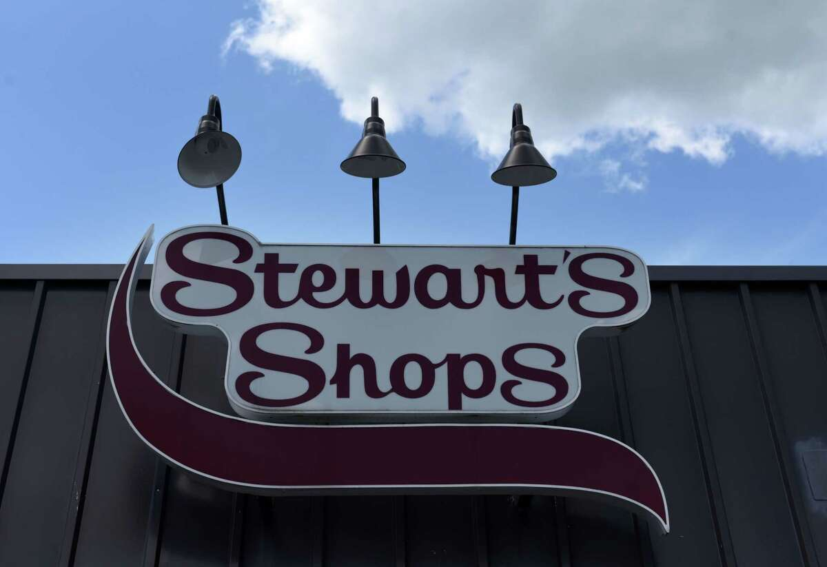 Exterior of the Stewart's Shops store at Delaware and Elm avenues on Monday, June 15, 2020, in Bethlehem, N.Y. Stewart's Shops plans to demolish the existing building to make way for gas pumps, while the All State Insurance office next door would be acquired and demolished to make way for a new, 3,975 square-foot store. (Will Waldron/Times Union)