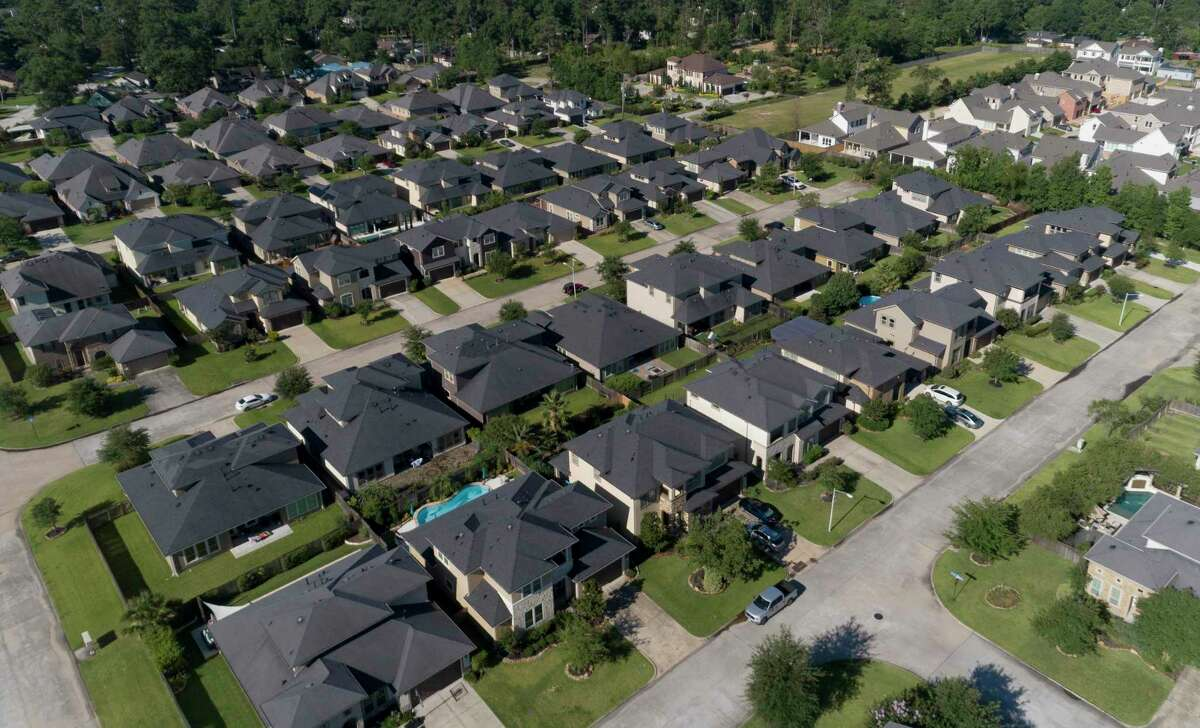 Homes in Shenandoah are seen Friday, June 12, 2020.