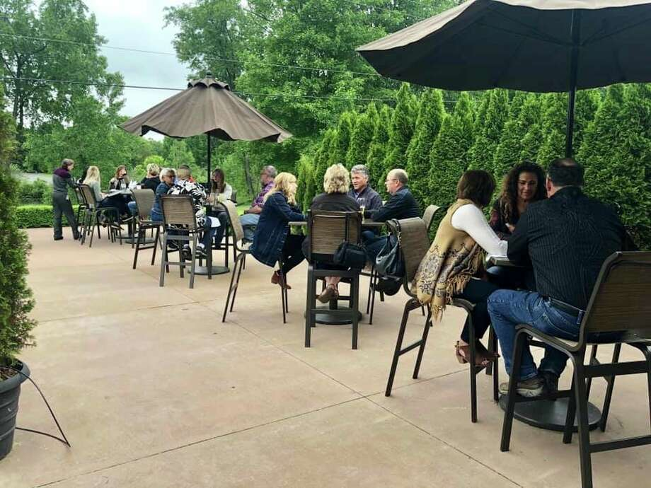 Antlers Fireside Grill offers a patio for dine-in customers. The restaurant reopened its patio and dining room Monday. (Courtesy photo)