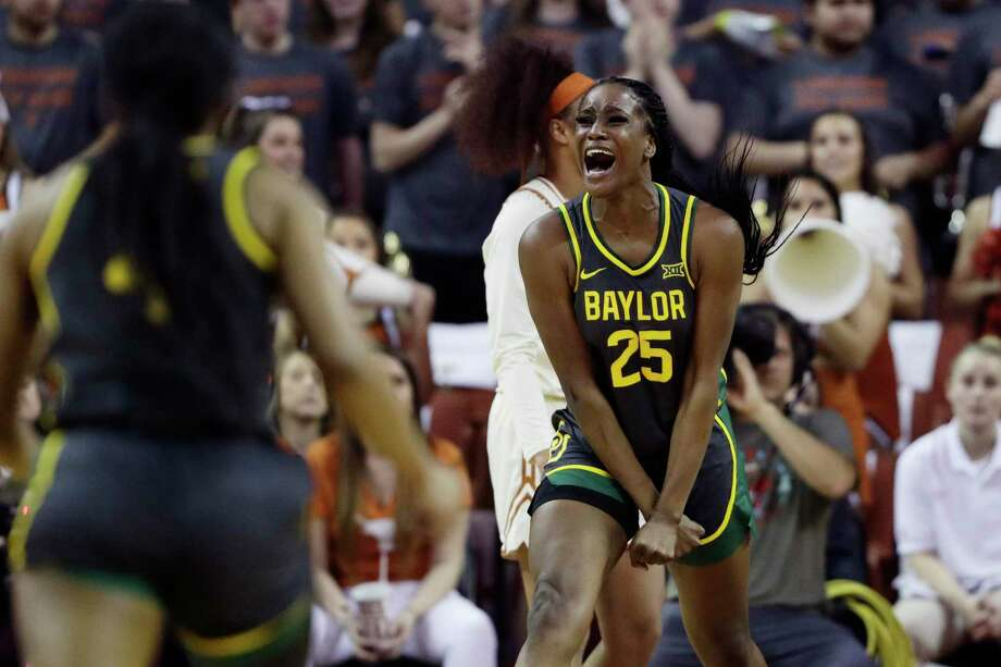 Travis grad and Baylor center Queen Egbo finished her sophomore season with conference and national honors. Photo: Eric Gay, STF / Associated Press / Copyright 2020 The Associated Press. All rights reserved.