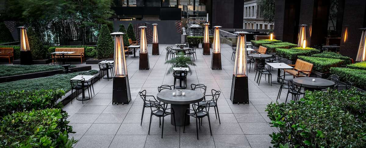 The Vault Garden is a new outdoor restaurant designed specifically for the coronavirus era at555 California St., San Francisco.